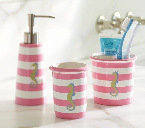 Seahorse Bath Accessories Pottery Barn Kids