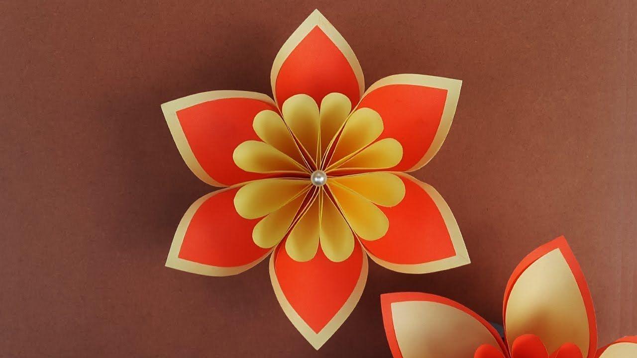 Beautiful Paper Flower Tutorial Step By Step Diy Paper Flowers