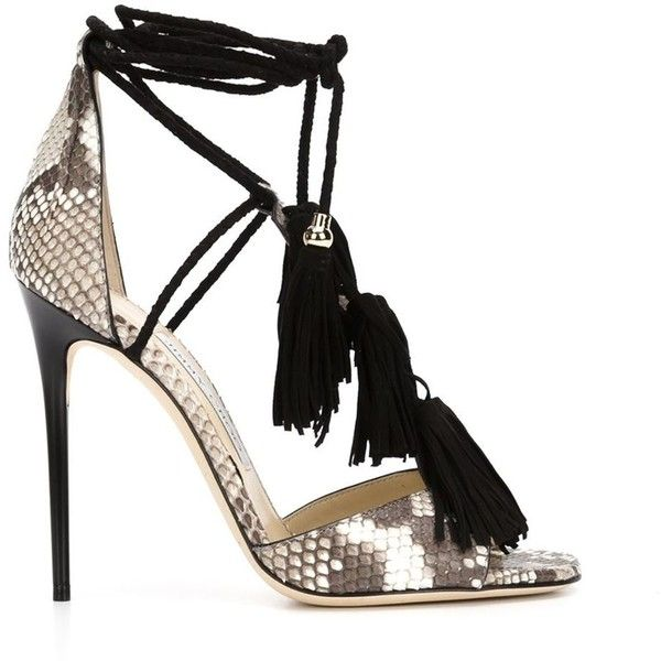 9d880957e89b Jimmy Choo 'Mindy' sandals (3.895 BRL) ❤ liked on Polyvore featuring shoes,  sandals, multicolour, black stilettos, black open toe sandals, black  stiletto ...