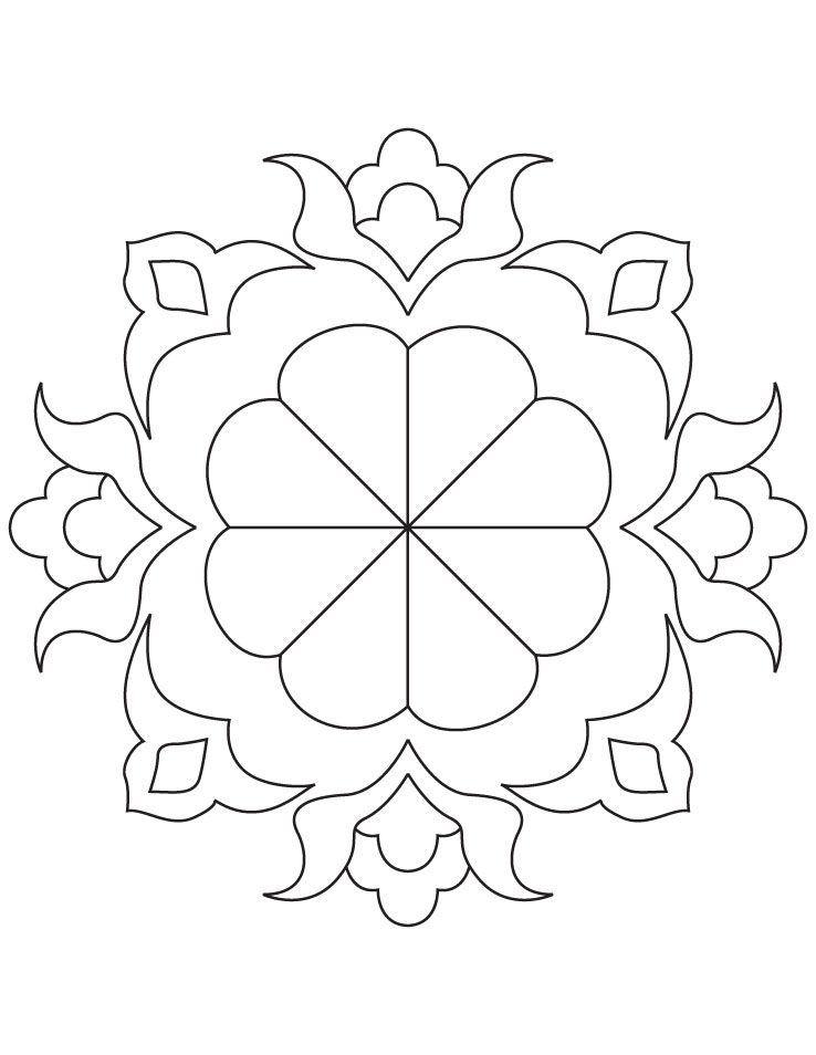 Rangoli Coloring Pages Google Search Coloring Pages Rangoli