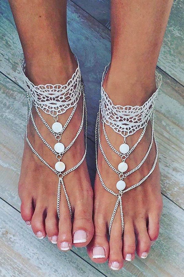 8270130d30c3 Barefoot Sandals for Your Beach Wedding Shoes