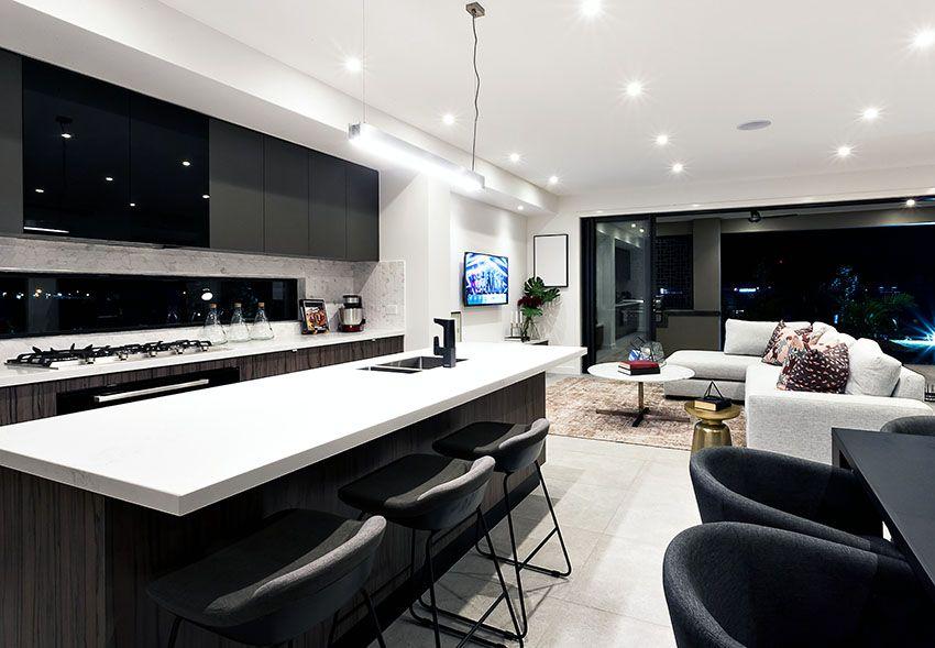 Beautiful Black Kitchen Cabinets Design Ideas Open Concept