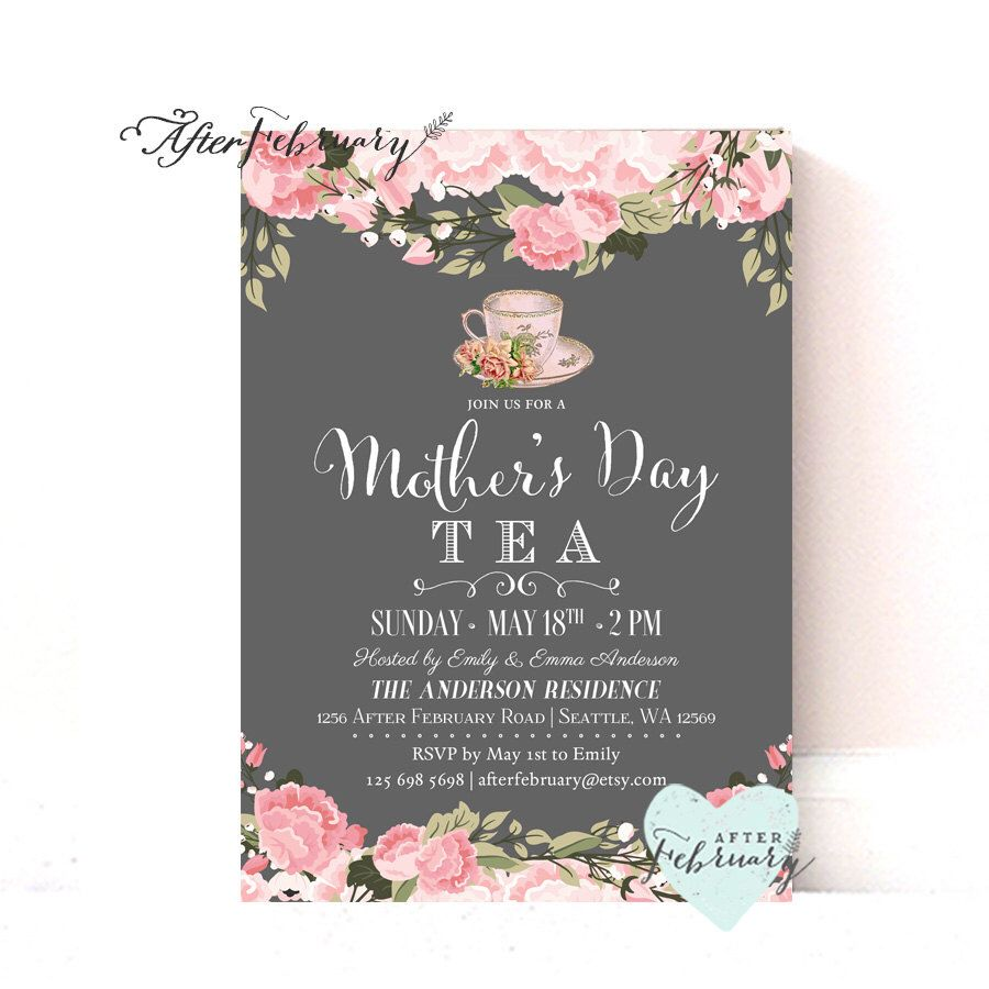 Pin By Sue Bain On Brunch In 2019 Tea Tea Party Invitations Tea