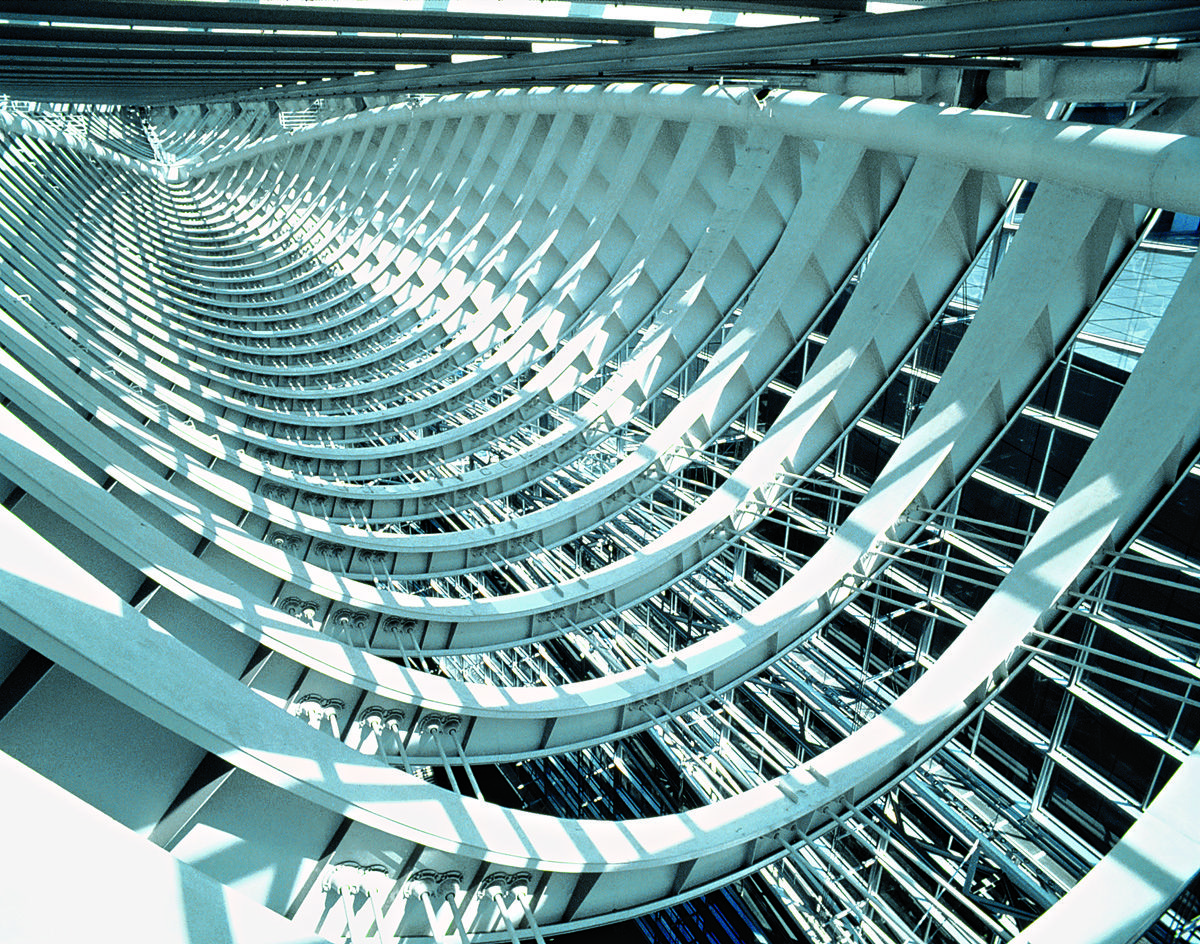 Tokyo International Forum | Rafael Viñoly Architects | Detail of Glass Hall truss