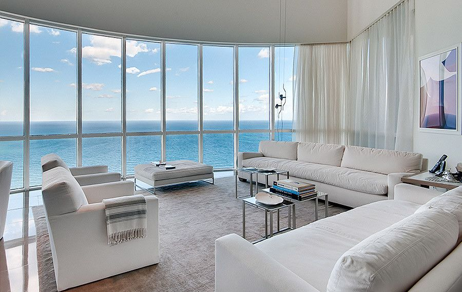modern contemporary miami livingroom