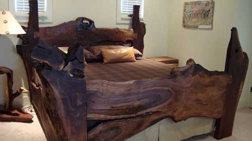 Old Growth California Redwood Bed Designed By Kelly Maxwell Of Littlebranch  Farm. Using Redwood From