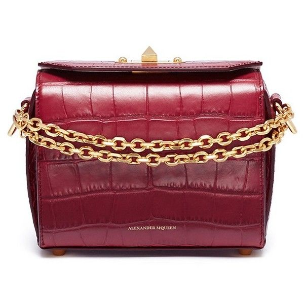 e300ecc54 Alexander McQueen  Box Bag 19  in croc embossed leather ( 1