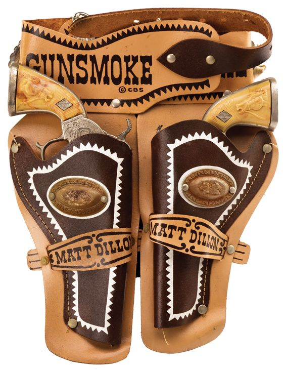 "Western Bedroom Tank Toy Box Or: Gunsmoke Holster Set In Box. Gunsmoke ""Matt Dillon"