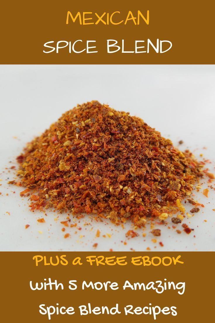 Mexican Spice Blend Make your own Mexican Spice Blend Plus download our Ebook with 5 other spice blend recipes. The ebook comes packed with ideas how to use the blends in all your cooking and comes with a discount to our awesome measuring cups and spoons