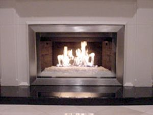 Fireplace glass and Firepla…
