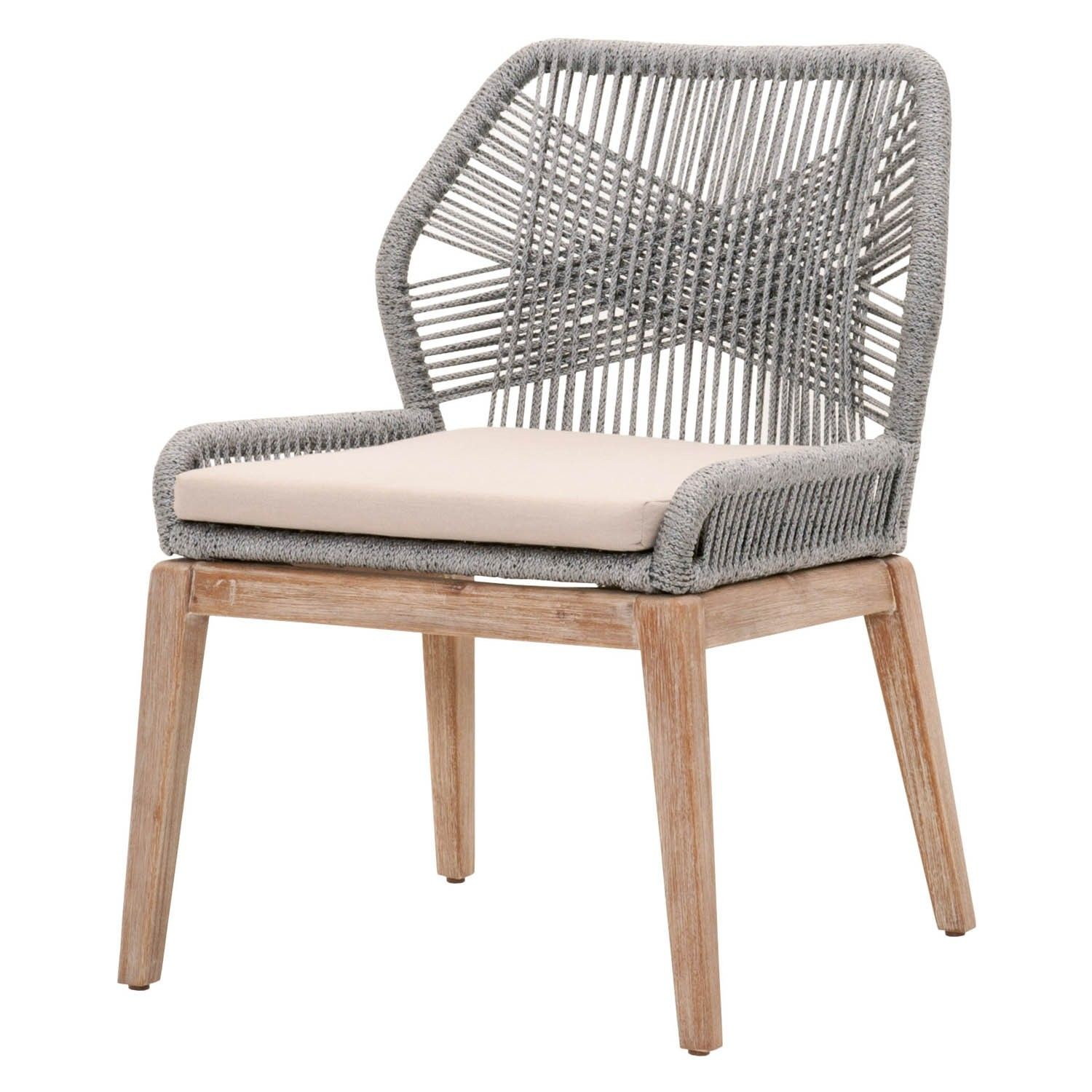 271ad235cd12 Weave Platinum Rope Dining Chair (Set of 2) | Outside | Dining ...