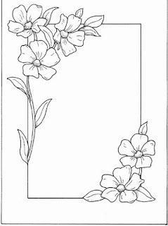 Flower designs for drawing borders valoblogi really pretty flowers with square shaped frame also pin by wendy sengstock on cricut pinterest coloring mightylinksfo