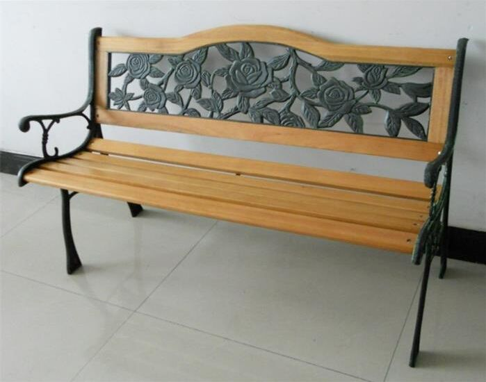 Iron · B 15006 Modern Outdoor Bench Wood Slats Cast ...