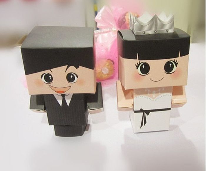 100pcs/lot Free Shipping Promotion Most Lovely Bride&Groom Wedding Favor Candy Boxes Noble and Elegant Style Chocolate/Gift Box $50.00