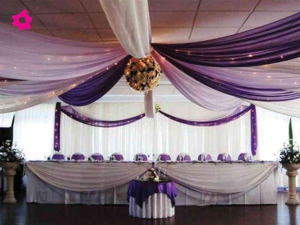 Decoración de Salones para Bodas con Telas | Ideas para, Wedding
