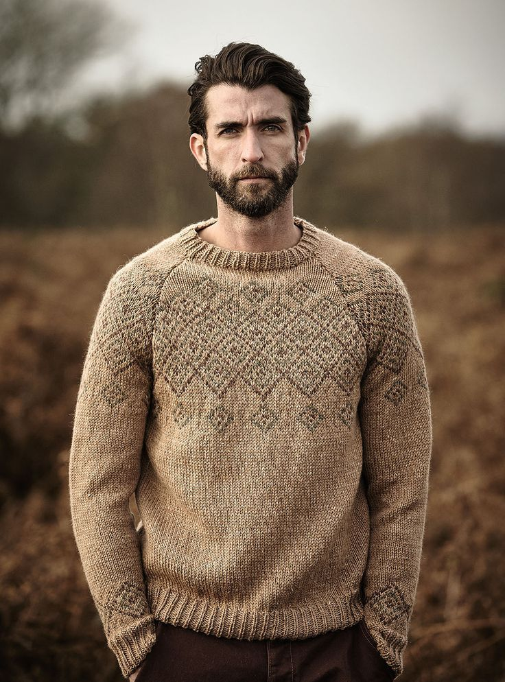 Shire Pattern By Lisa Richardson Mens Knit Sweater Men