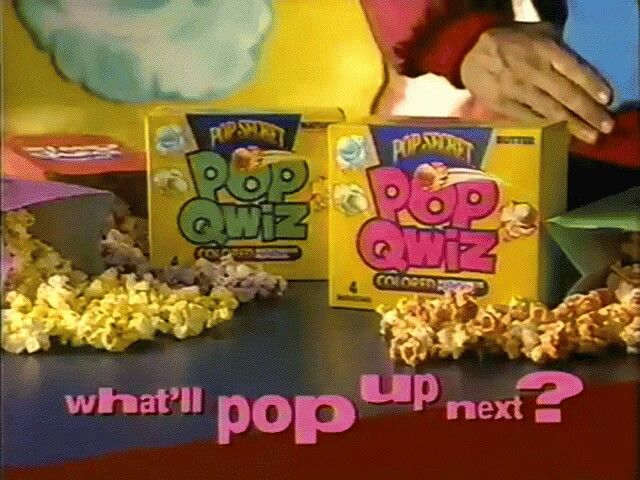 Pop Quiz Colored Popcorn