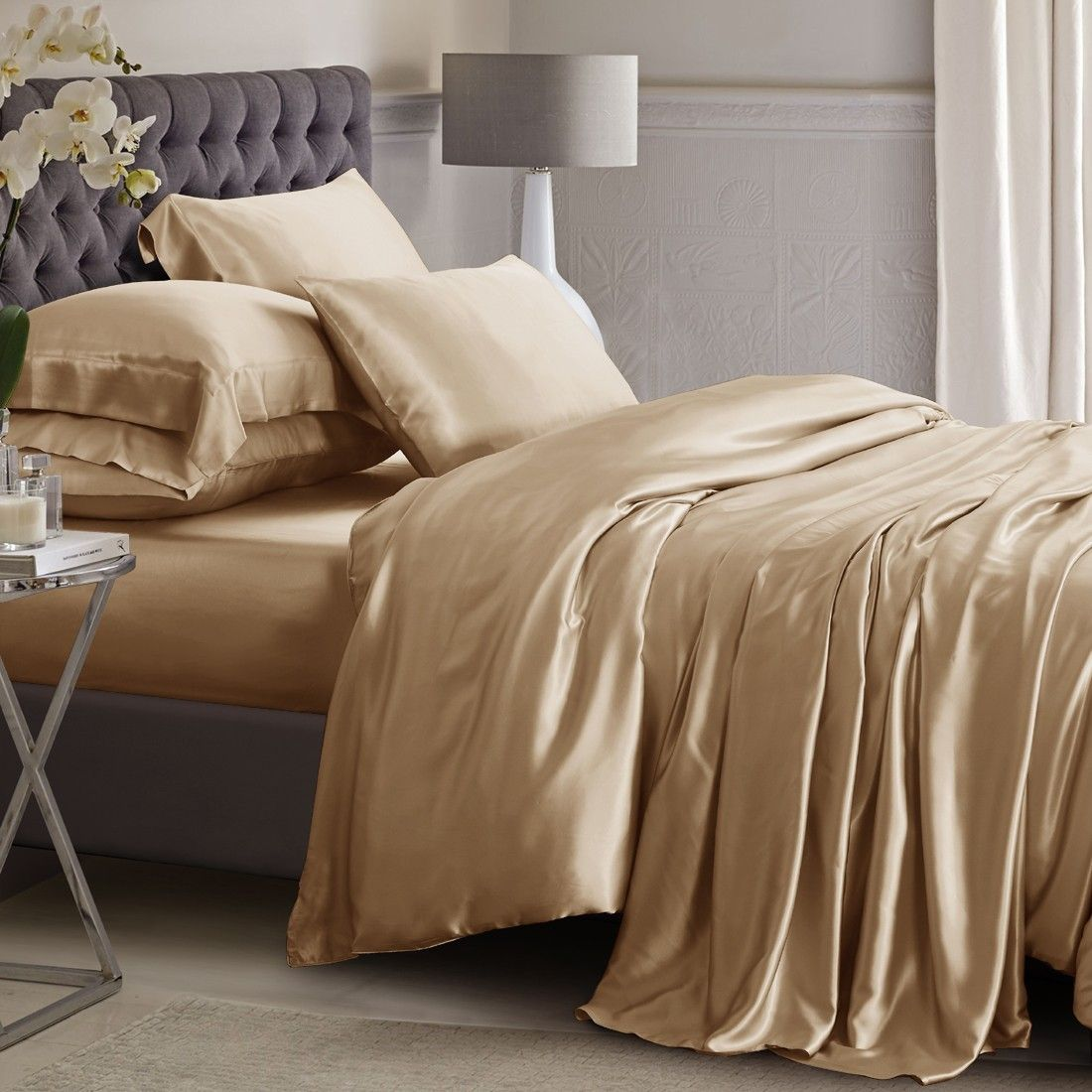 Silk Duvet Cover Silk bed sheets, Bed linens luxury, Bed