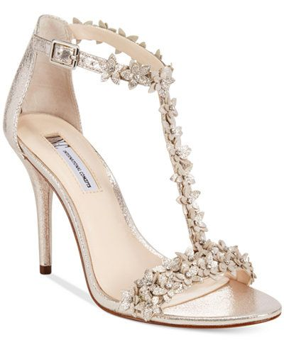 89f742e241260 INC International Concepts Women s Rosiee T-Strap Embellished Evening  Sandals