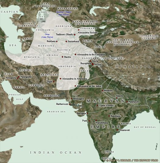 Map of Bactria and India 200 BC Ancient History Pinterest - best of world history maps thomas lessman