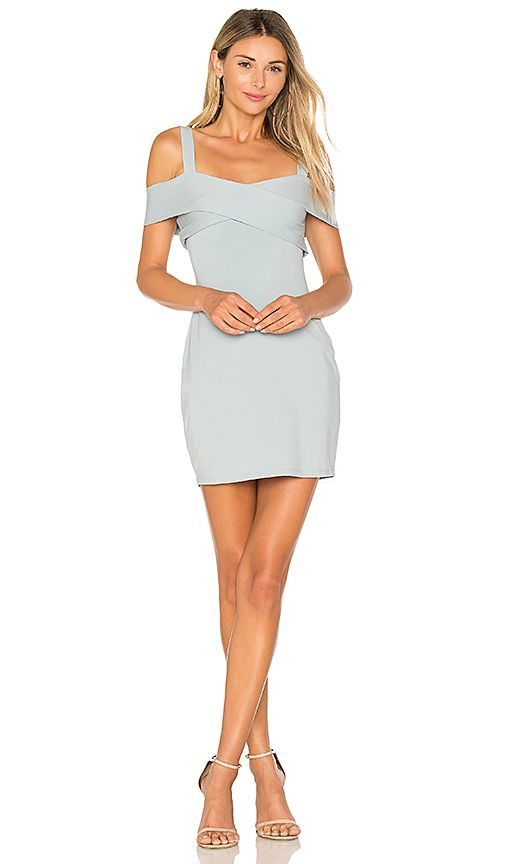 31a0f79c6ed0 by the way. Evie Cold Shoulder Mini Dress in Light Blue | REVOLVE ...