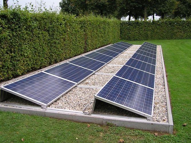 Tuin opstelling met grind zonnepanelen pinterest for Grind tuin