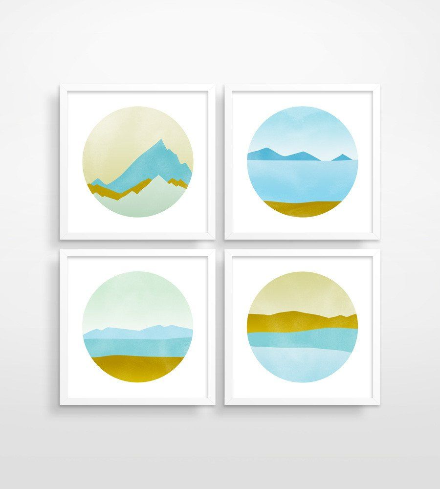 Ode to pacific northwest wall art set of pacific northwest