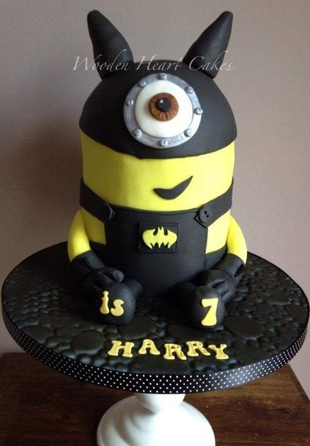 Batman Minion Cake by Wooden Heart Cakes For all your cake
