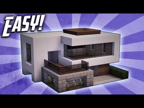 minecraft how to build a small modern house tutorial 16