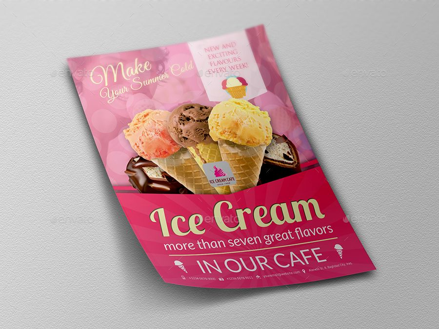 Ice Cream Advertising Bundle Vol.3   Flyer template, Flyer ...
