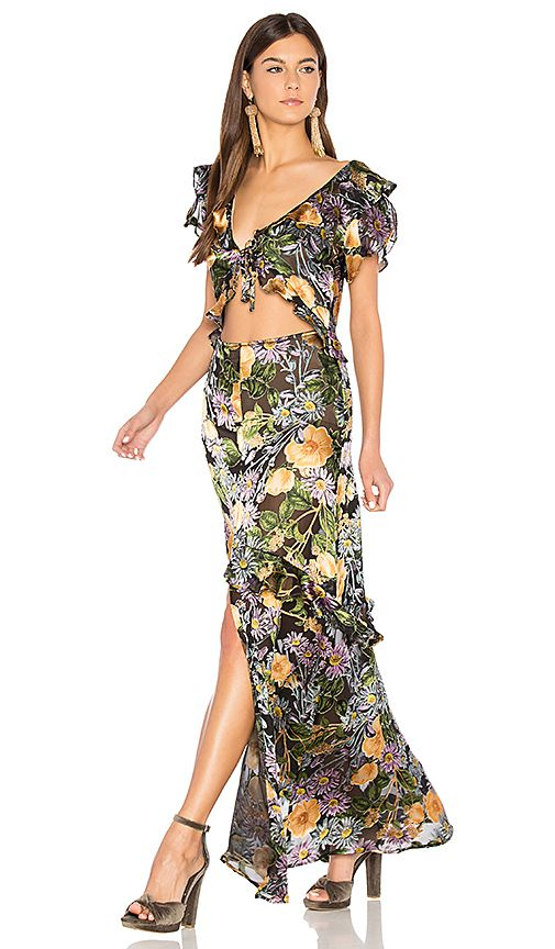 Shop For For Love Amp Lemons Luciana Maxi Dress In Black Floral At Revolve Free 2 3 Day Shipping And Returns 30 Day Price Match Guarantee Saia Longa Saias