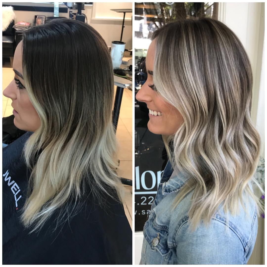 Ooooooooooooo My Client Let Her Babylights Grow Out Since October 7 Months People It Grew Out In Hair Color Balayage Balayage Hair Hair Color Flamboyage