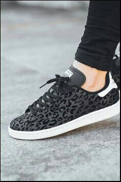 adidas stan smith animal print