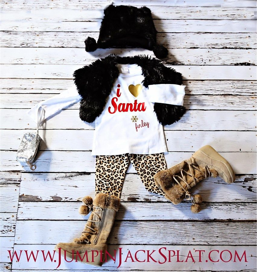 """Say Happy Holidays in these personalized tee's! Every child will love their very own personalized shirt or onesie to wear this season.Perfect forpictures with Santa, HolidayCelebrations & ClassroomParties!Options include: """"Believe""""red BOY shirt or onesie""""Believe""""white GIRLY shirt or onesie""""I heart Santa"""" GIRLY tee or onesie, heart can be made in silver, gold or greenTie with name red BOY tee or onesieIf choosing """"I Heart Santa"""" Tee or onesieplease ch..."""