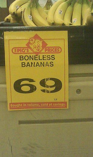 thank god, I hate! when my bananas have bones....???