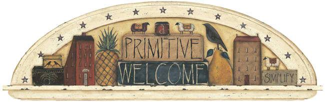 Interior Place - Primitive Welcome Arch Wall Mural, $24.04 (http://www.interiorplace.com/primitive-welcome-arch-wall-mural/)