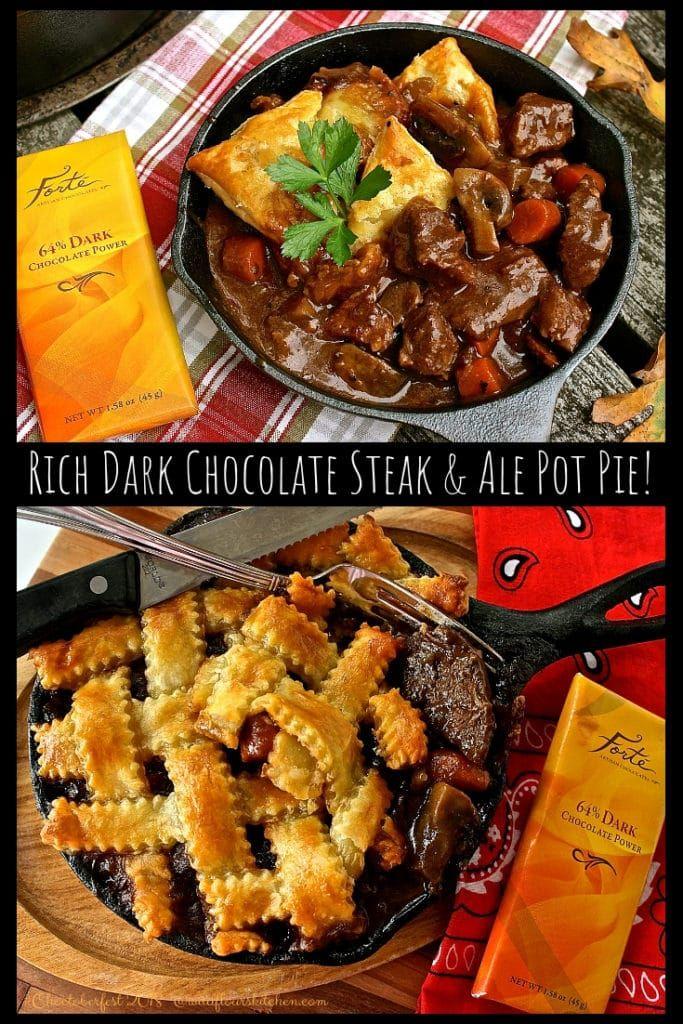 Rich Dark Chocolate Steak & Ale Pot Pie #Choctoberfest ...