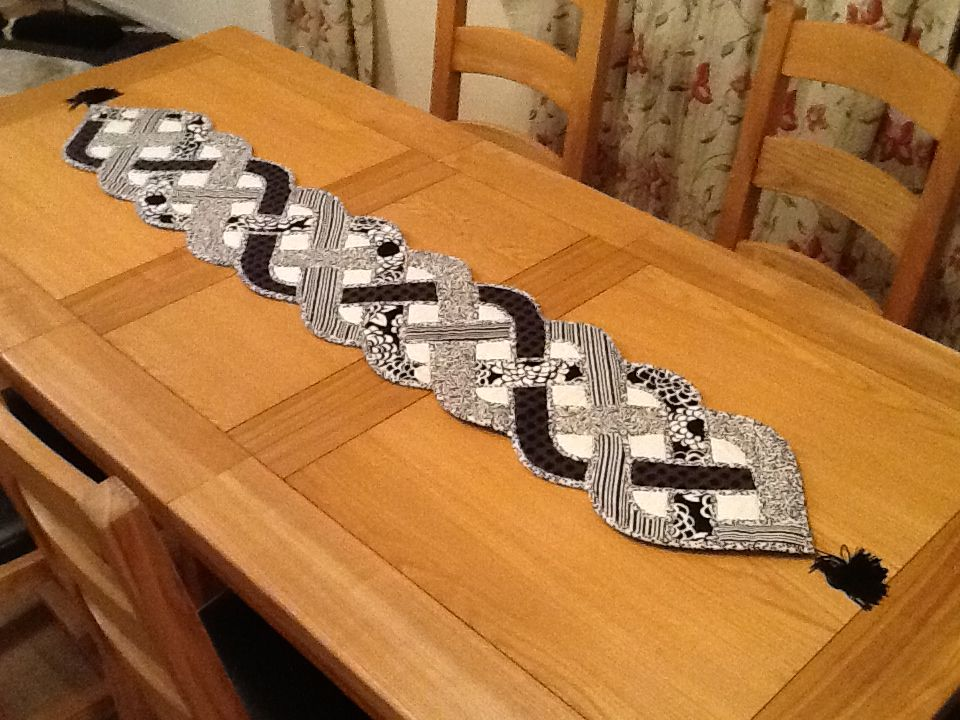 Golden Plait Table Runner Made By D Paget Quilting