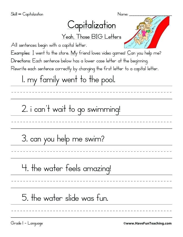 correct the sentence worksheet complete sentence ...