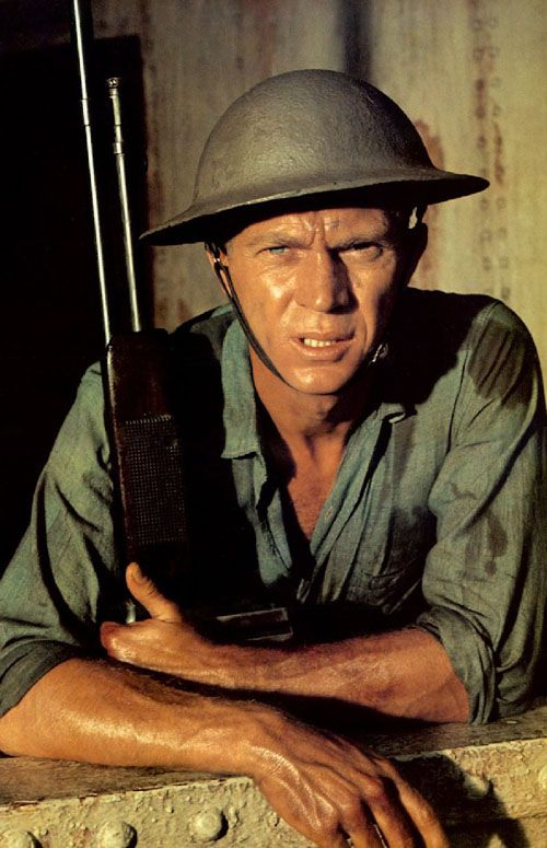 """Terrence Stephen """"Steve"""" McQueen (Mar 24, 1930 – Nov 7, 1980) - American actor. In 1947, he joined US Marine Corps, promoted to PFC, assigned to an armored unit. Initially, demoted to private 7 times, went AWOL by failing to return after a weekend pass had expired & spent 41 days in the brig. After this, he resolved to embrace the Marines' discipline. He saved the lives 5 other Marines on Arctic exercise, before tank fell through ice into sea. He served until 1950 & was honorably discharged."""