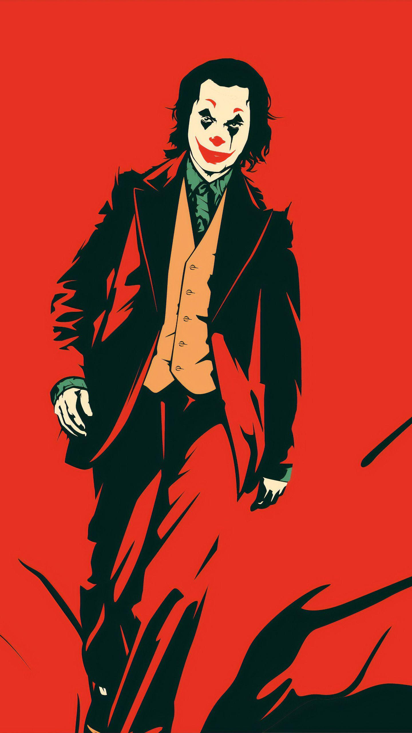 Joker Red 4K HD Wallpaper (1440x2560) | Joker wallpapers ...