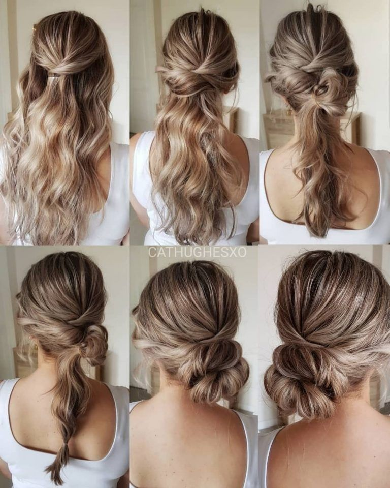 Simple And Pretty Diy Updo Fluffy Hairstyle Tutorials For Wedding Guest Updo Hairstyles Tutorials Hair Styles Diy Wedding Hair