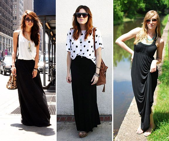 Top 25 ideas about Summer Fashion on Pinterest | Black maxi skirts ...