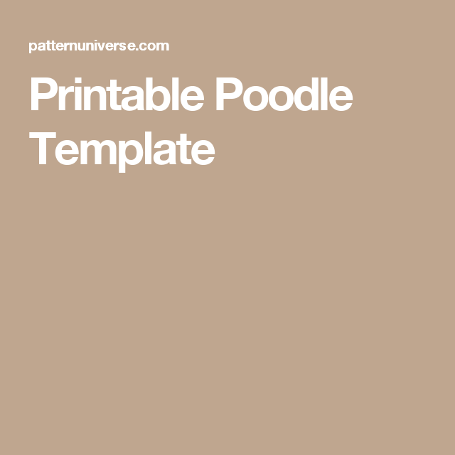 Printable poodle template for my granddaughters pinterest printable poodle template pronofoot35fo Images