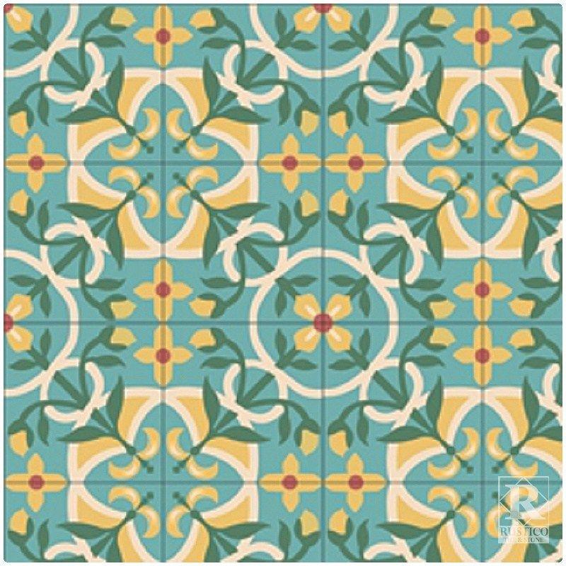 Vine Cement Tile Saltillotileconnection Com Cement Tile Cement Custom Tiles