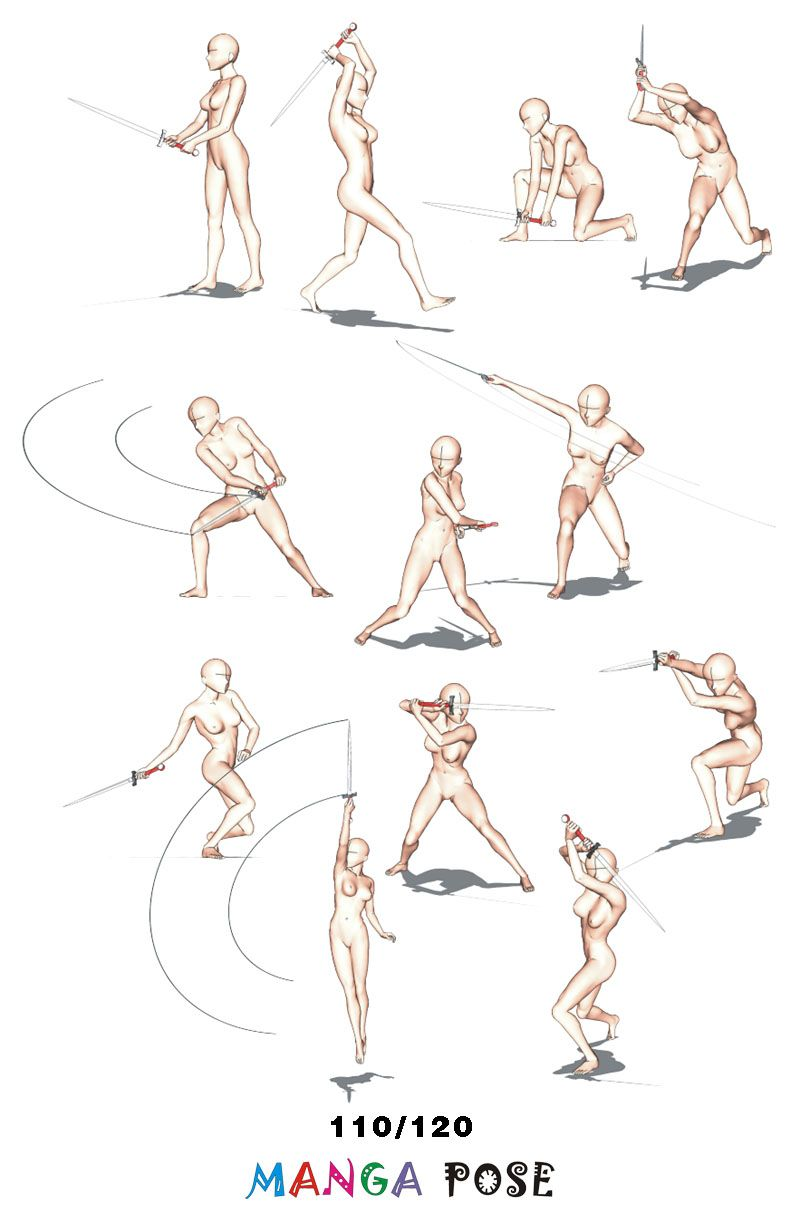 Tutorial Drawing Manga Pose Big Posebook For Manga Anime Character Sword Poses Manga Poses Anime Poses Reference Drawing Poses