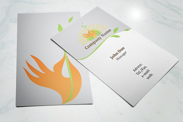 Nice And Simple Eco Friendly Business Card Template Available For