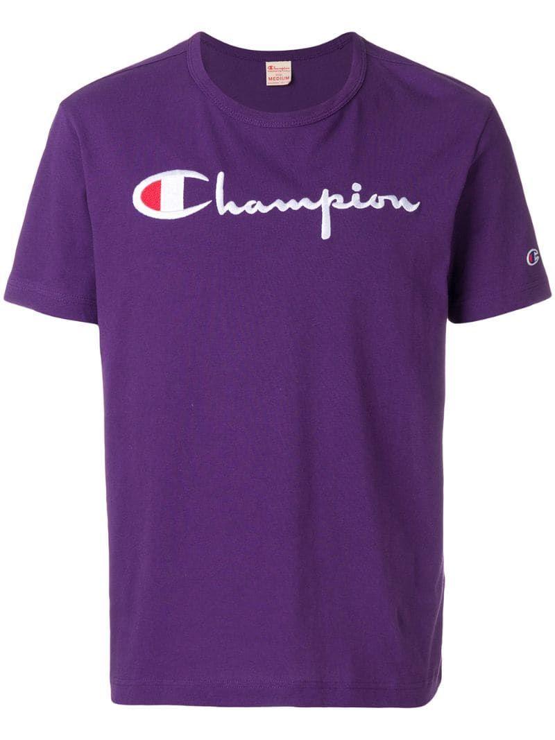 Champion Logo Print Tshirt in 2020 Shirts, Champion