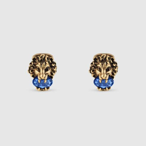 8dbf73500 GUCCI Lion Head Cufflinks With Crystals. #gucci #fashion jewelry for men