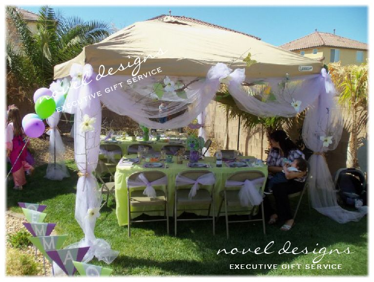 Princess theme backyard birthday party las vegas for Backyard ideas for adults